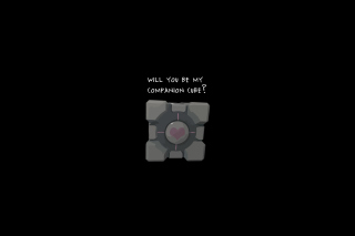 Companion Cube Background for Android, iPhone and iPad