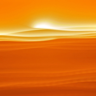 Orange Sky and Desert - Fondos de pantalla gratis para iPad 2