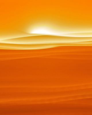 Orange Sky and Desert sfondi gratuiti per 640x960