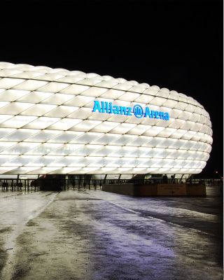 Allianz Arena is stadium in Munich - Obrázkek zdarma pro iPhone 5C