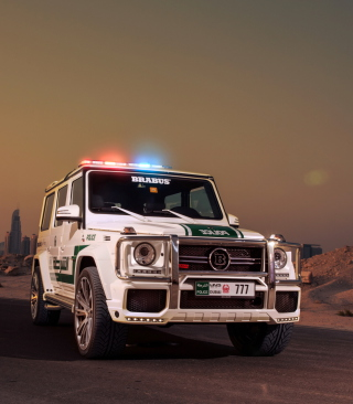 Mercedes Benz G Brabus Police Background for HTC Titan