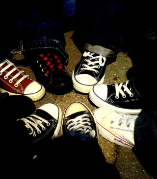 Emo Allstar Shoes Wallpaper for HTC Titan