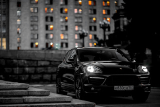 Black Porsche Cayenne GTS Wallpaper for Android, iPhone and iPad