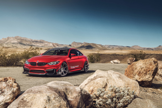BMW M4 Red Background for Android 480x800