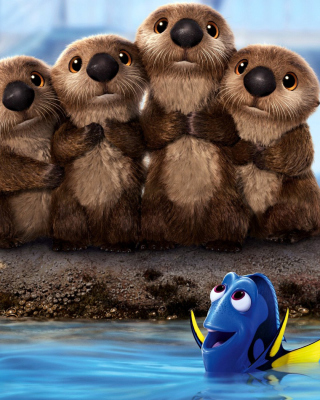 Finding Dory 3D Film with Beavers Wallpaper for Nokia Asha 311