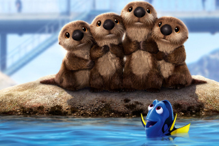 Finding Dory 3D Film with Beavers Wallpaper for Android, iPhone and iPad