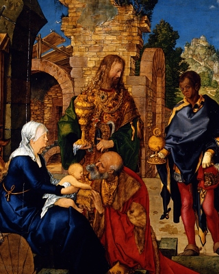 Albrecht Durer Adoration of the Magi Picture for iPhone 5S