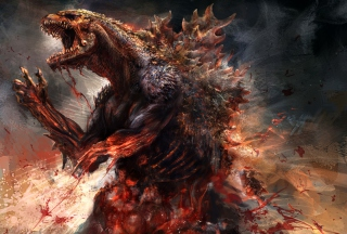 Godzilla 2014 Concept sfondi gratuiti per cellulari Android, iPhone, iPad e desktop