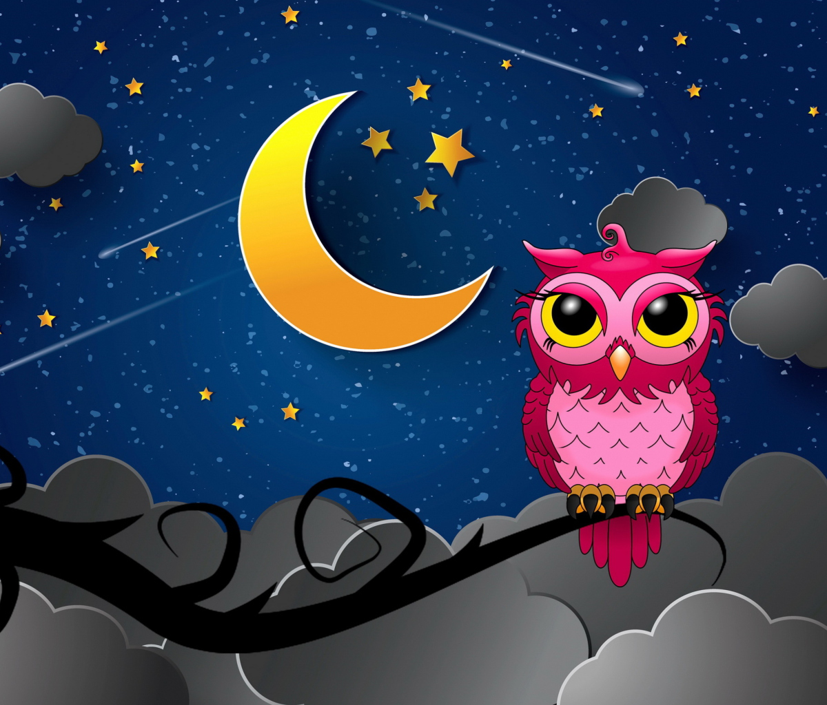 Screenshot №1 pro téma Silent Owl Night 1200x1024