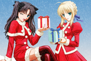Anime Christmas Background for Android, iPhone and iPad