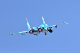 Military Sukhoi Su 34 Background for Android, iPhone and iPad