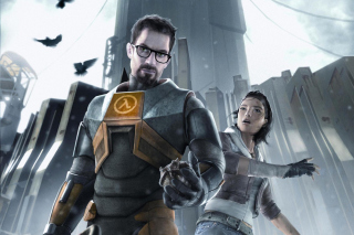Half life with Freeman, Alex in City 17 - Obrázkek zdarma pro Samsung Galaxy Ace 3
