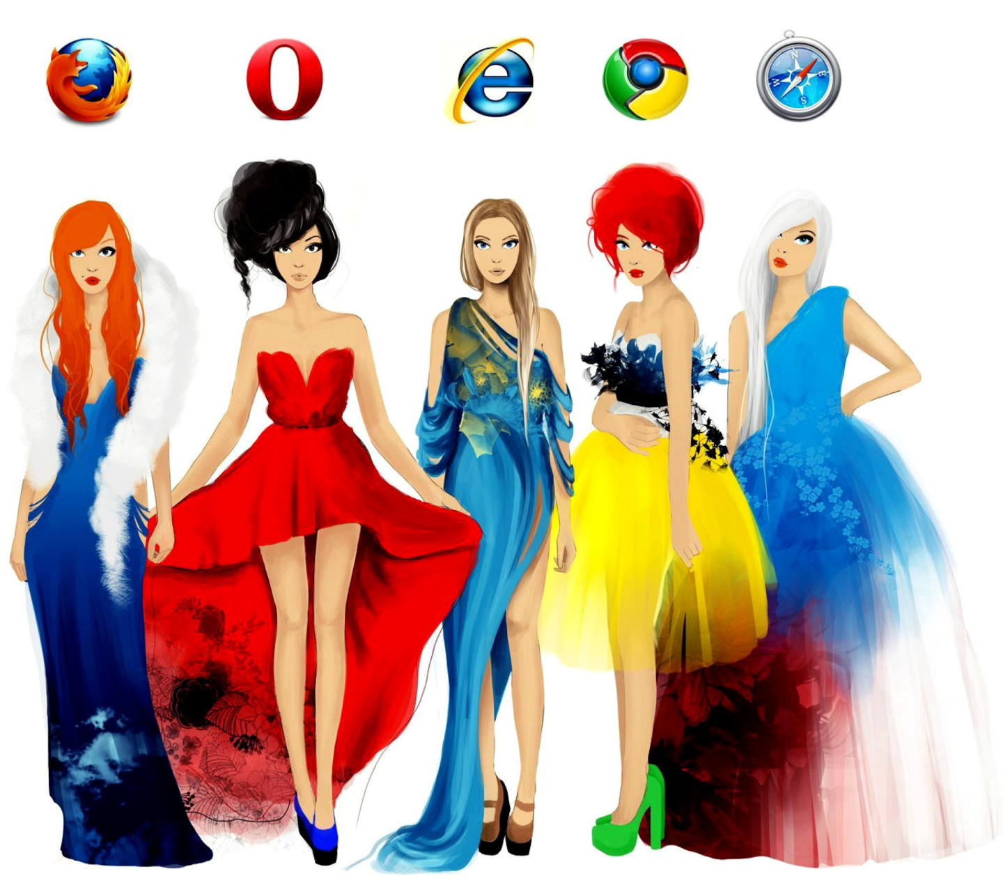Screenshot №1 pro téma Browsers Girls 1440x1280