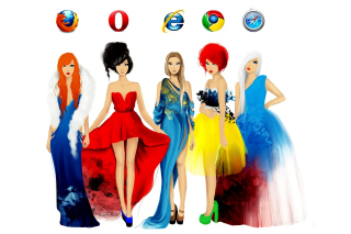 Browsers Girls Background for Android, iPhone and iPad
