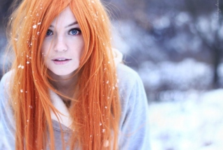 Summer Ginger Hair Girl And Snowflakes - Fondos de pantalla gratis