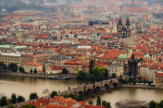 Prague, Czech Republic, Vltava River Wallpaper for Android, iPhone and iPad