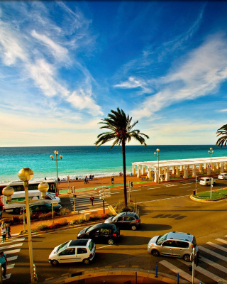 Nice, French Riviera Beach Wallpaper for HTC Titan