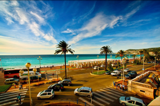 Nice, French Riviera Beach Wallpaper for Android, iPhone and iPad