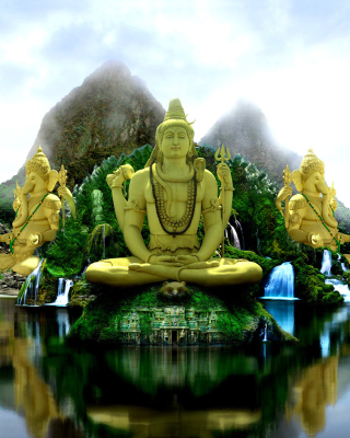 Buddhist Temple Wallpaper for Nokia C2-03