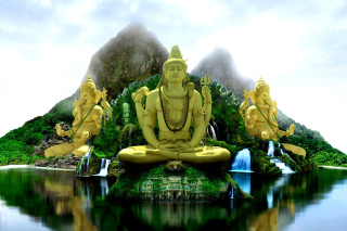 Buddhist Temple Background for 480x400