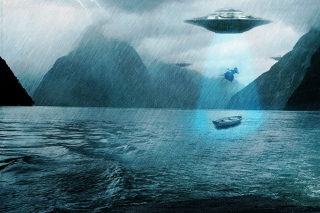 Free Alien Abduction Picture for Android, iPhone and iPad