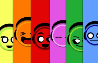 Colorful Smiles Background for Android, iPhone and iPad