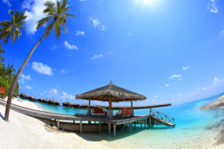 Luxury Bungalows in Maldives Resort Wallpaper for Android, iPhone and iPad