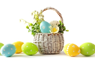 Easter Basket Wallpaper for Desktop Netbook 1366x768 HD