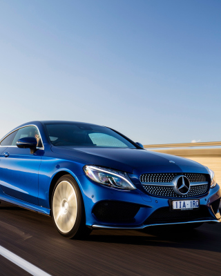 Mercedes Benz C Class Coupe W205 sfondi gratuiti per iPhone 6 Plus