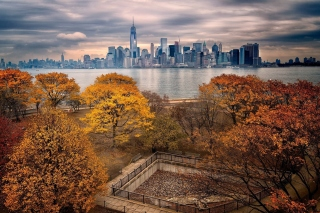 Manhattan Autumn Background for Android 480x800