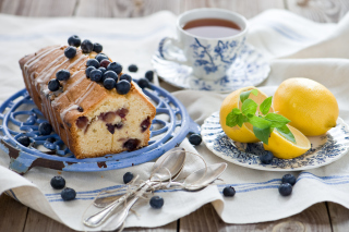 Blueberry Cake Background for 800x480