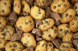 Chocolate Chip Cookies sfondi gratuiti per cellulari Android, iPhone, iPad e desktop