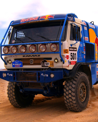 Kamaz Dakar Rally Car Background for Nokia Asha 306