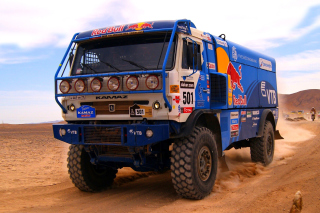 Kostenloses Kamaz Dakar Rally Car Wallpaper für Samsung I9080 Galaxy Grand