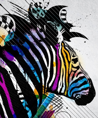Colored Zebra Wallpaper for HTC Titan