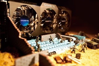 Gigabyte Motherboard Background for Android, iPhone and iPad