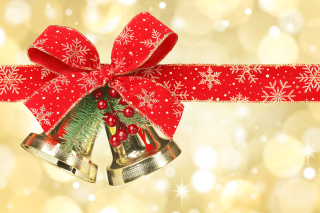 Christmas tree bell Background for 1920x1200