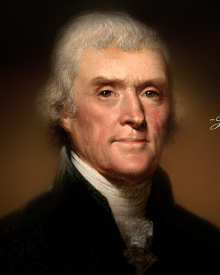 Free Thomas Jefferson Picture for Nokia Asha 311