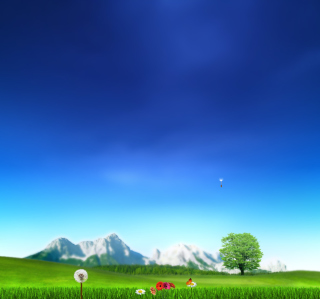 Nature Landscape Blue Sky Background for 2048x2048