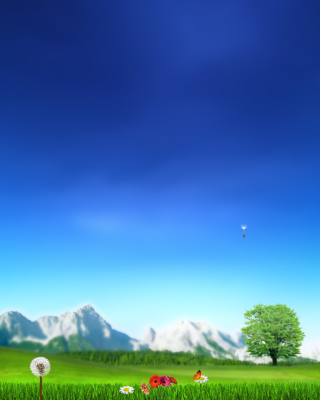 Nature Landscape Blue Sky Background for Nokia Asha 311