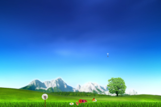 Free Nature Landscape Blue Sky Picture for Android, iPhone and iPad