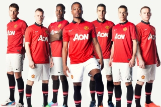 Free Manchester United Team 2013 Picture for Android, iPhone and iPad