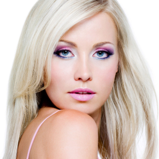 Blonde with Perfect Makeup Background for LG KP105