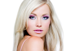 Blonde with Perfect Makeup Background for Android, iPhone and iPad