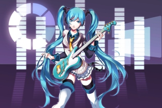 Hatsune Miku Background for Android, iPhone and iPad