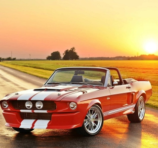 1965 Ford Mustang Convertible Background for iPad mini