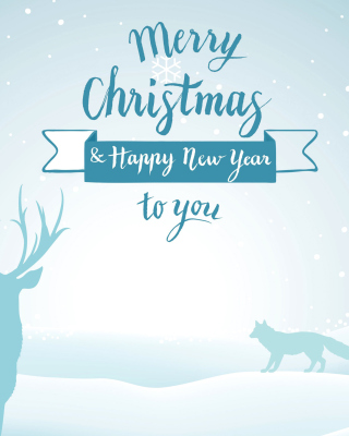 Merry Christmas and Happy New Year papel de parede para celular para iPhone 6