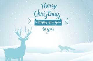 Merry Christmas and Happy New Year Background for 960x800