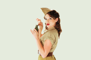 Girl With Grenade Wallpaper for Android, iPhone and iPad