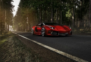 Red Lamborghini Wallpaper for Nokia Asha 201